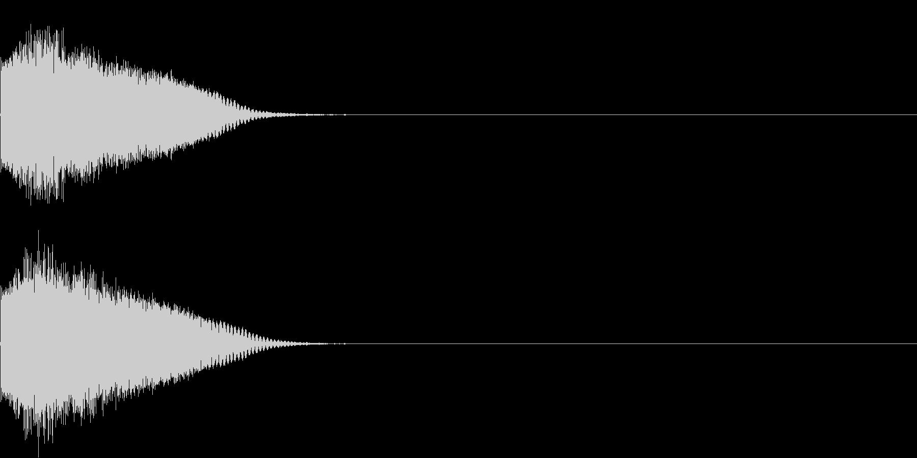 刀 剣 カキーン シャキーン 目立つ14の未再生の波形
