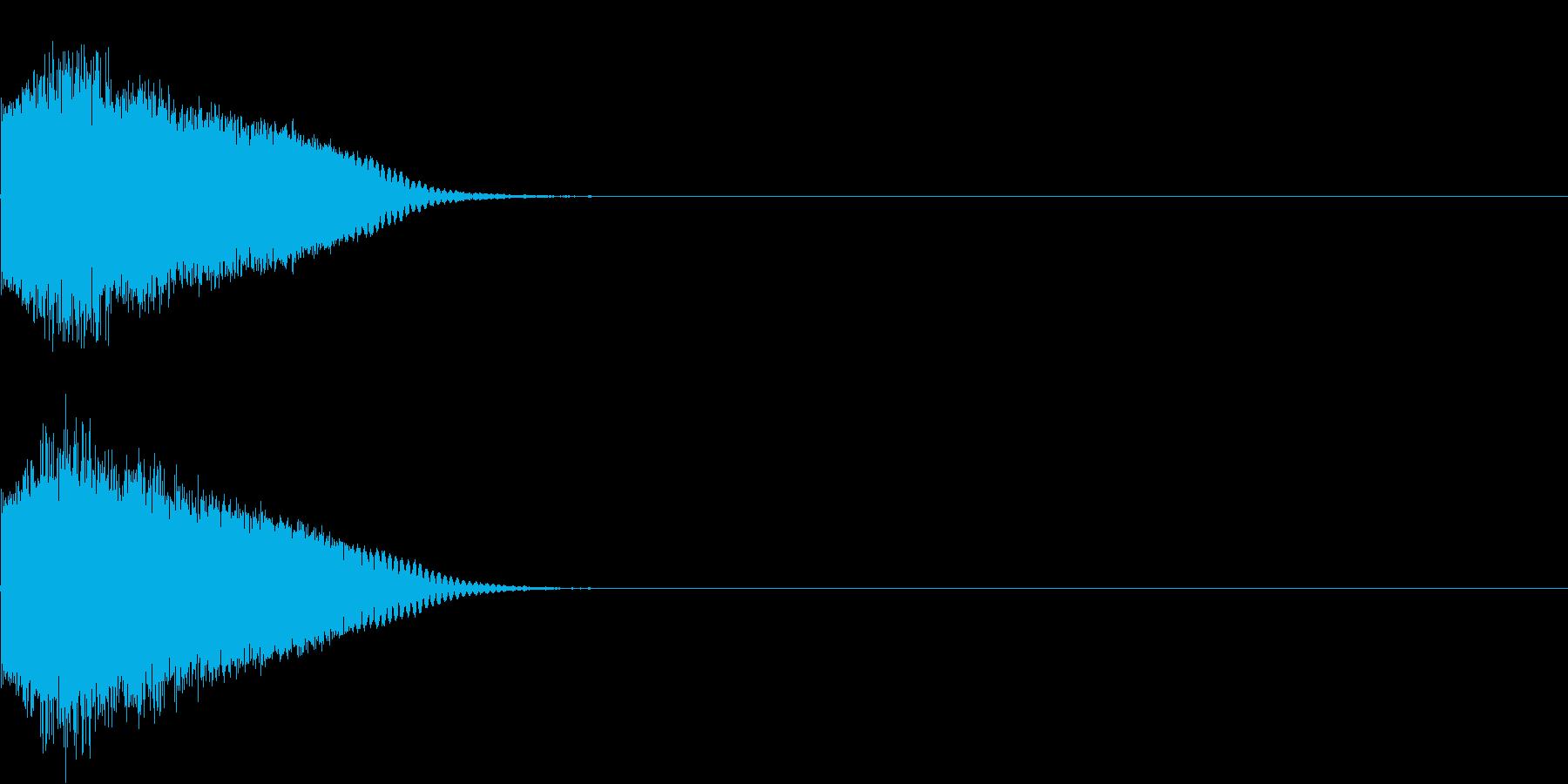 刀 剣 カキーン シャキーン 目立つ14の再生済みの波形