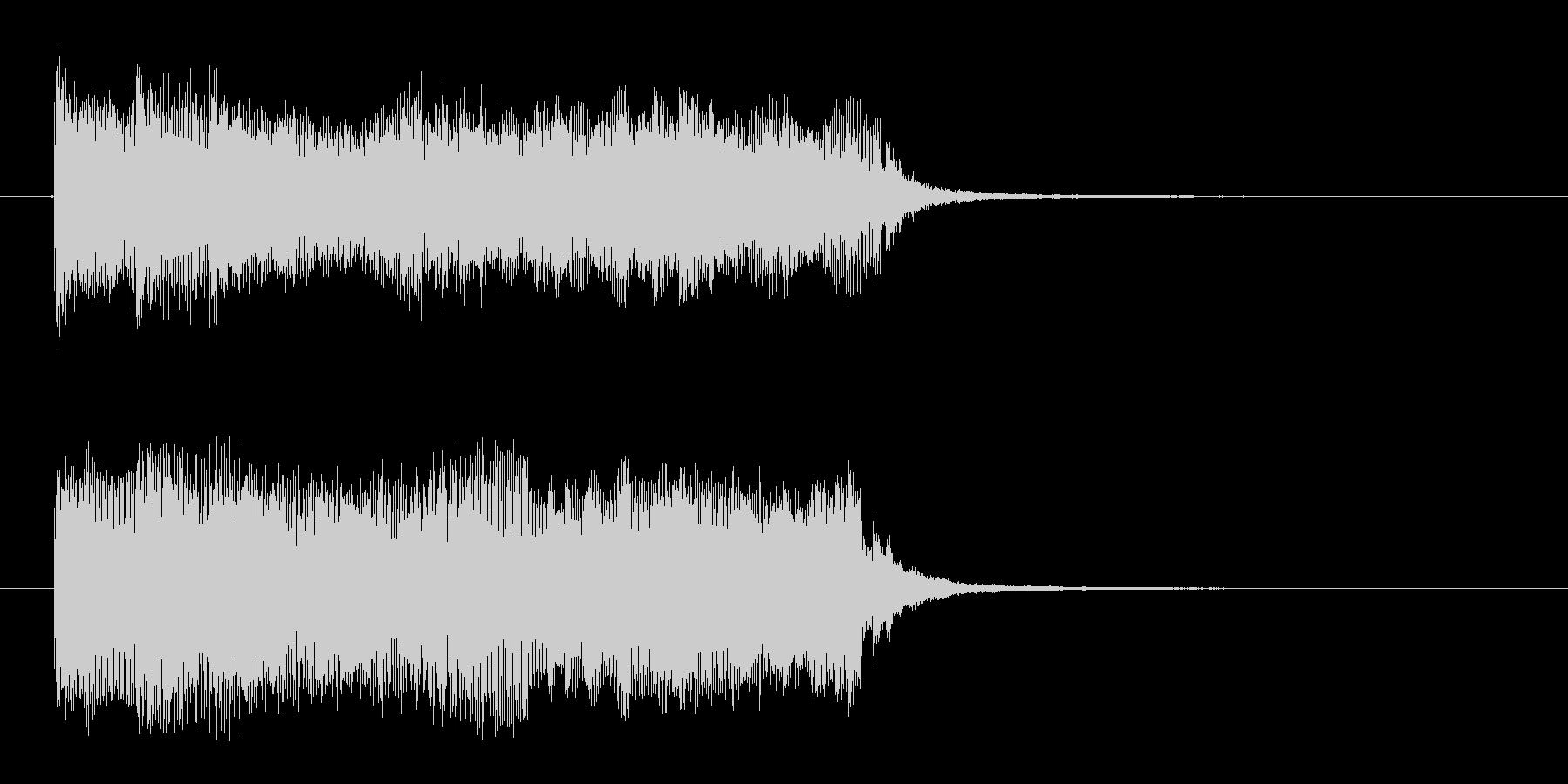 宇宙感のあるシンセサイザーテクノ(短め)の未再生の波形