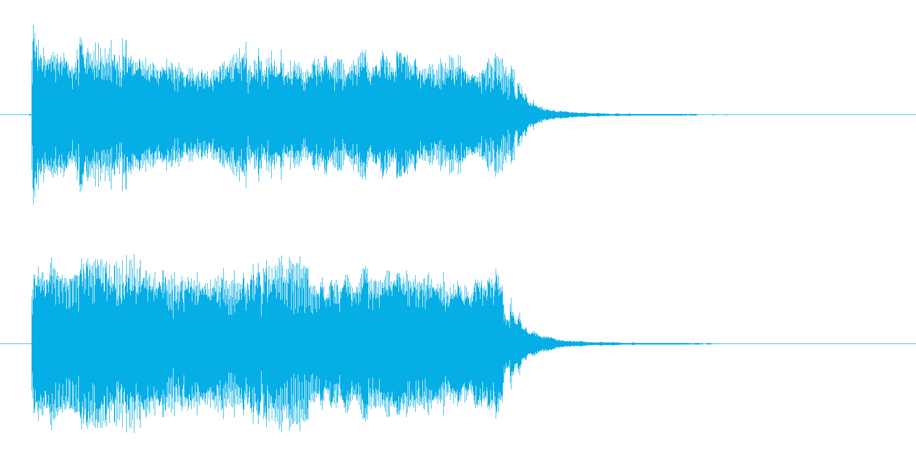 宇宙感のあるシンセサイザーテクノ(短め)の再生済みの波形