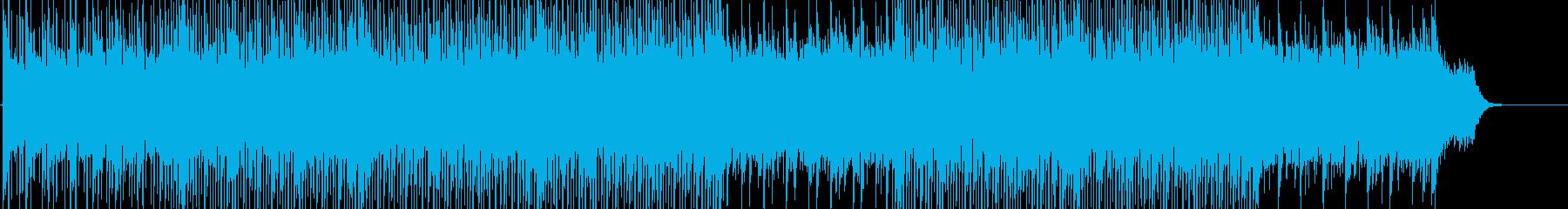 軽快で明るいハウステイストのBGMの再生済みの波形