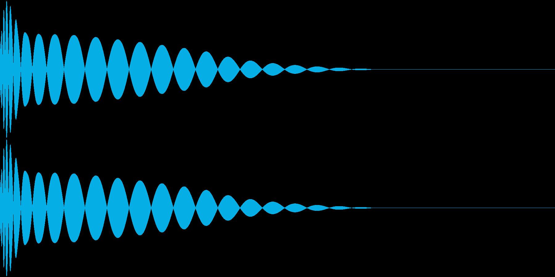 DTM Kick 1 オリジナル音源の再生済みの波形