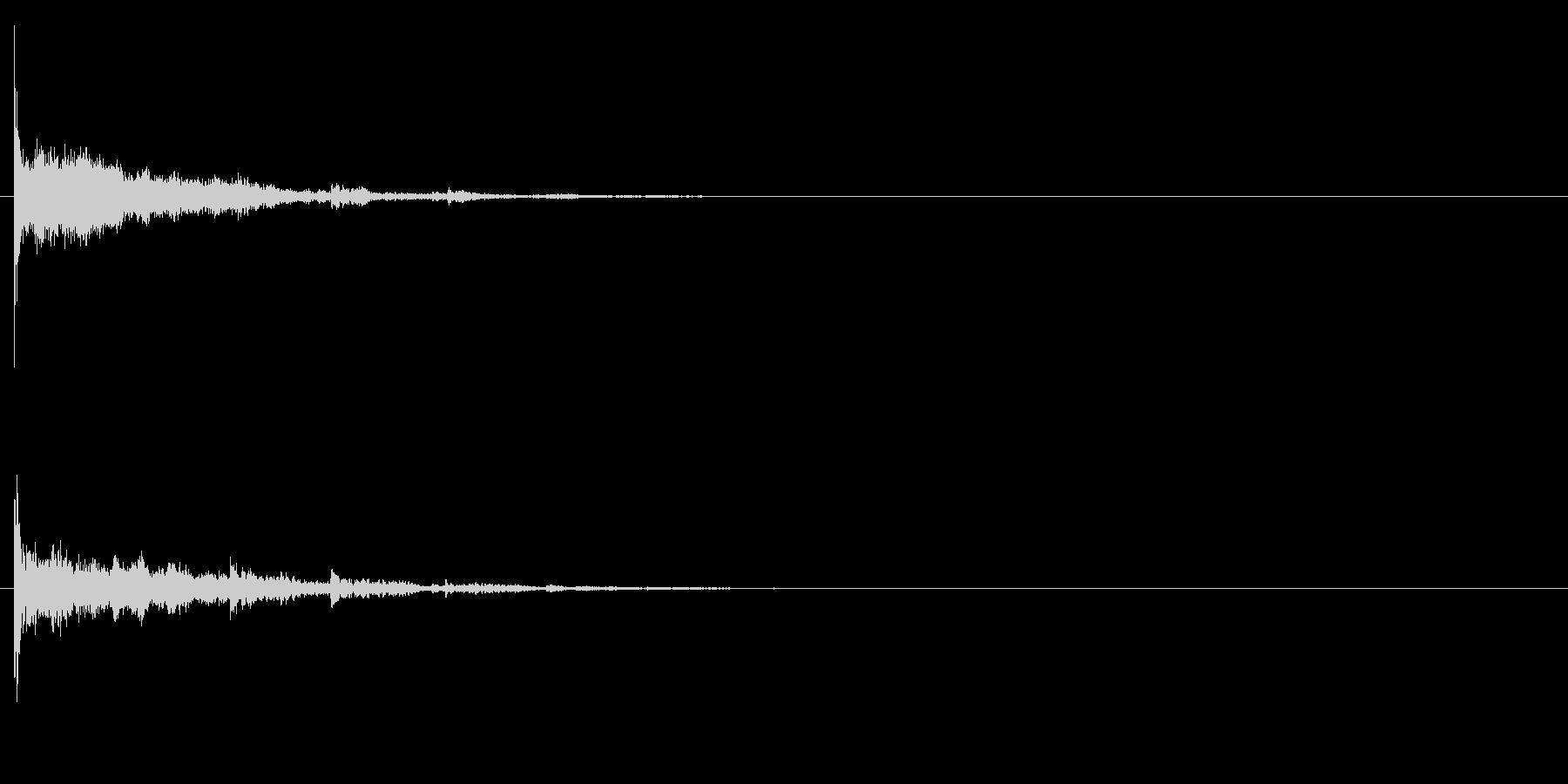 テロップ、ワンポイント、アクセントの未再生の波形