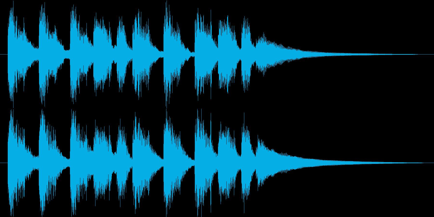 ジングル・未来・わくわく・幻想的・EDMの再生済みの波形