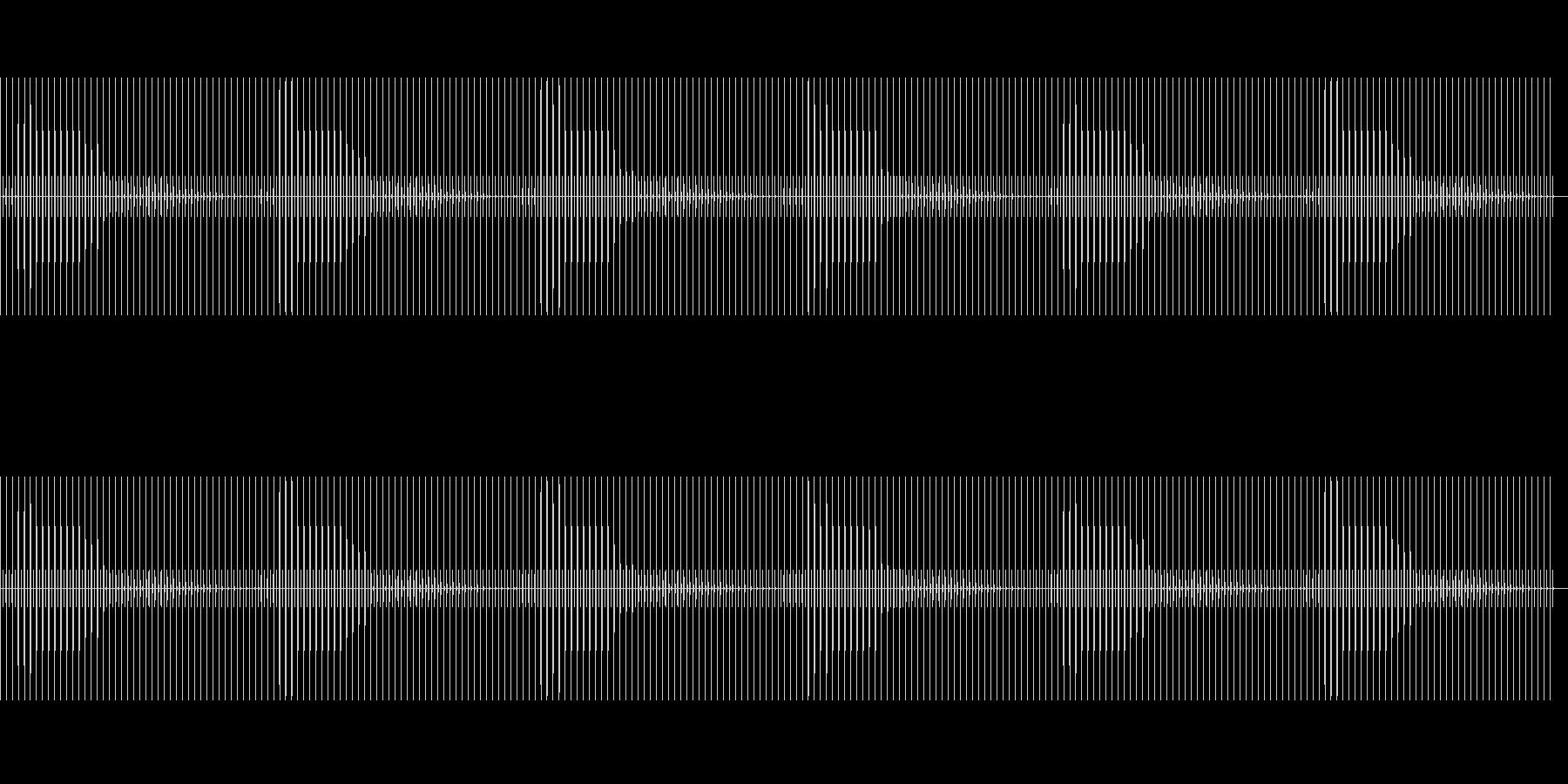 時計の秒針(音低め/振動音あり)の未再生の波形