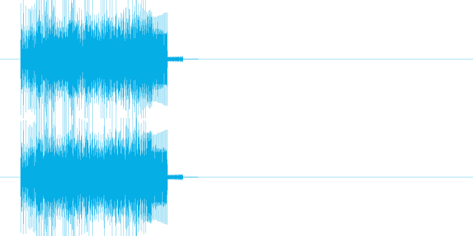ファミコン風 強そうな呪文音の再生済みの波形