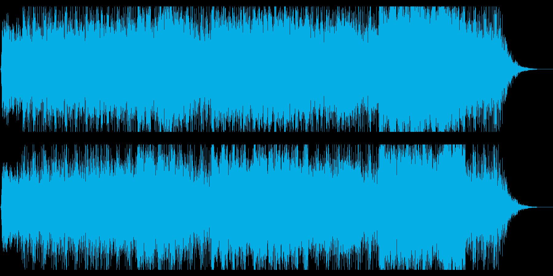 幻想的で異国感のあるヒーリング音楽の再生済みの波形