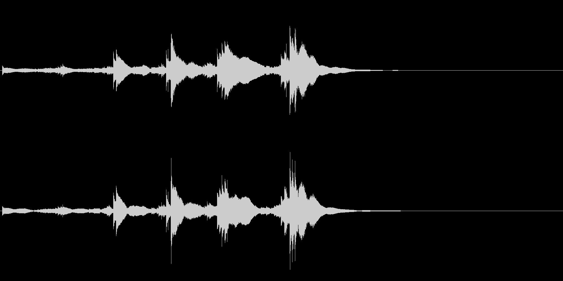 小型の鐘「本つり鐘」のフレーズ音2+Fxの未再生の波形