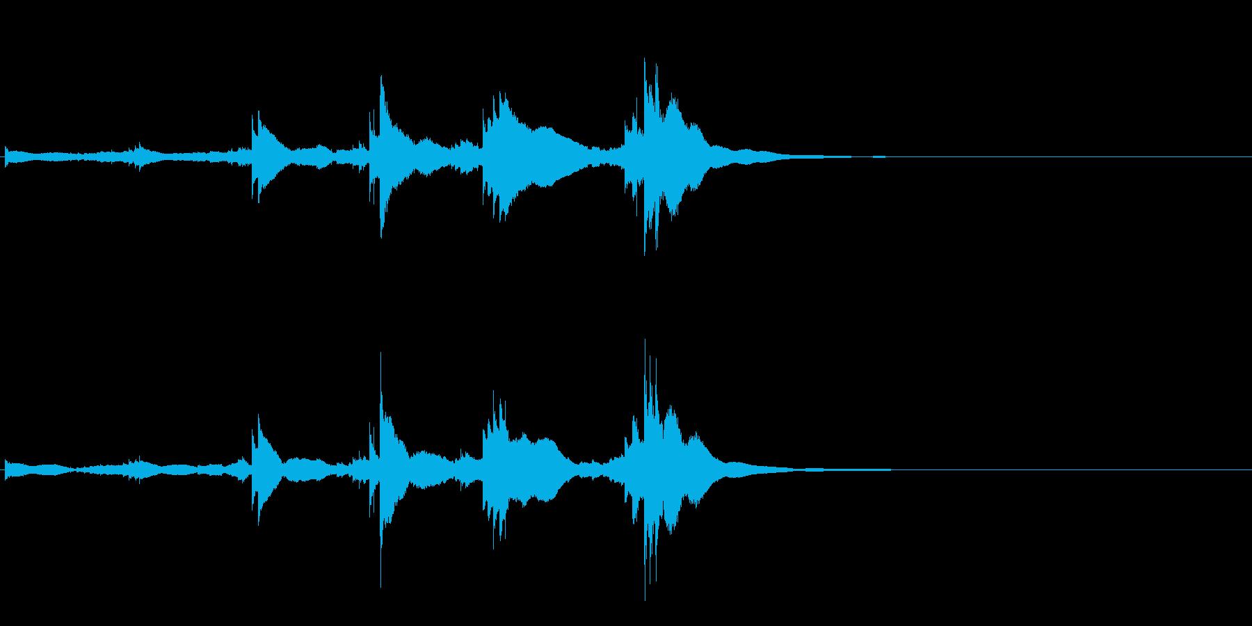 小型の鐘「本つり鐘」のフレーズ音2+Fxの再生済みの波形