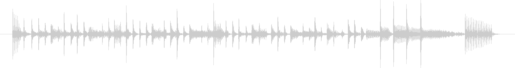 スタイリッシュなスラップベースジングル①の未再生の波形
