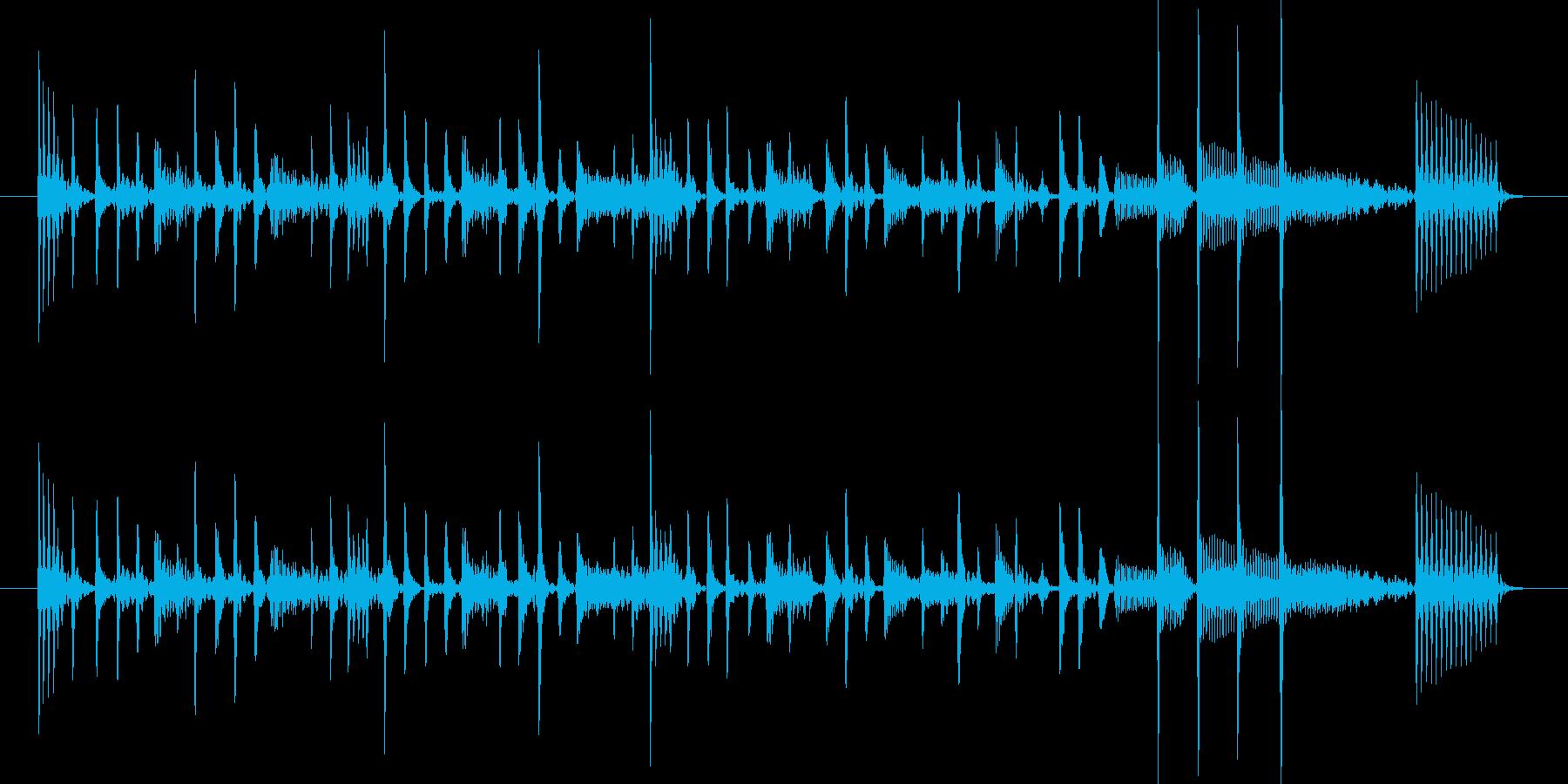 スタイリッシュなスラップベースジングル①の再生済みの波形