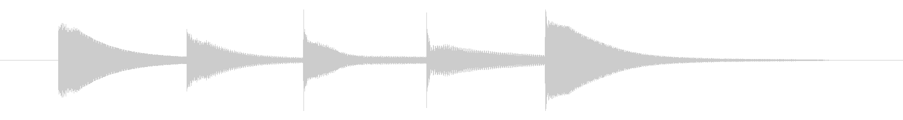 上りチャイム(ミラドミラ)の未再生の波形