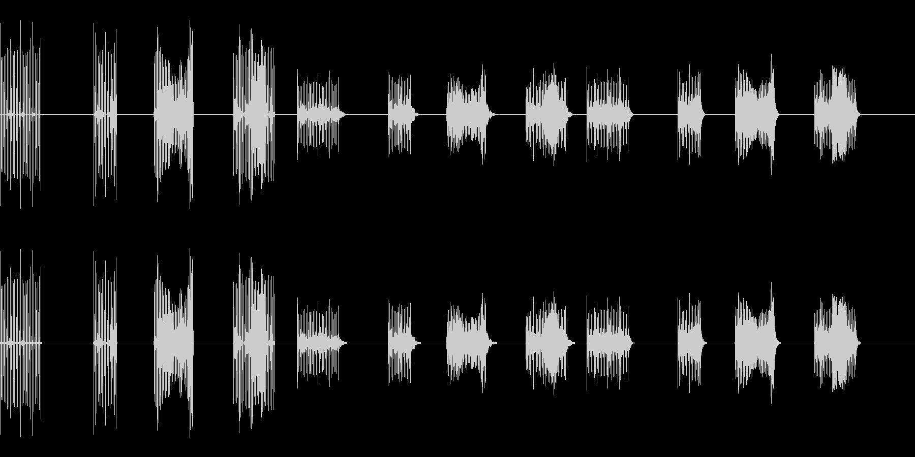 サンプル&ホールド-4バージョンX...の未再生の波形