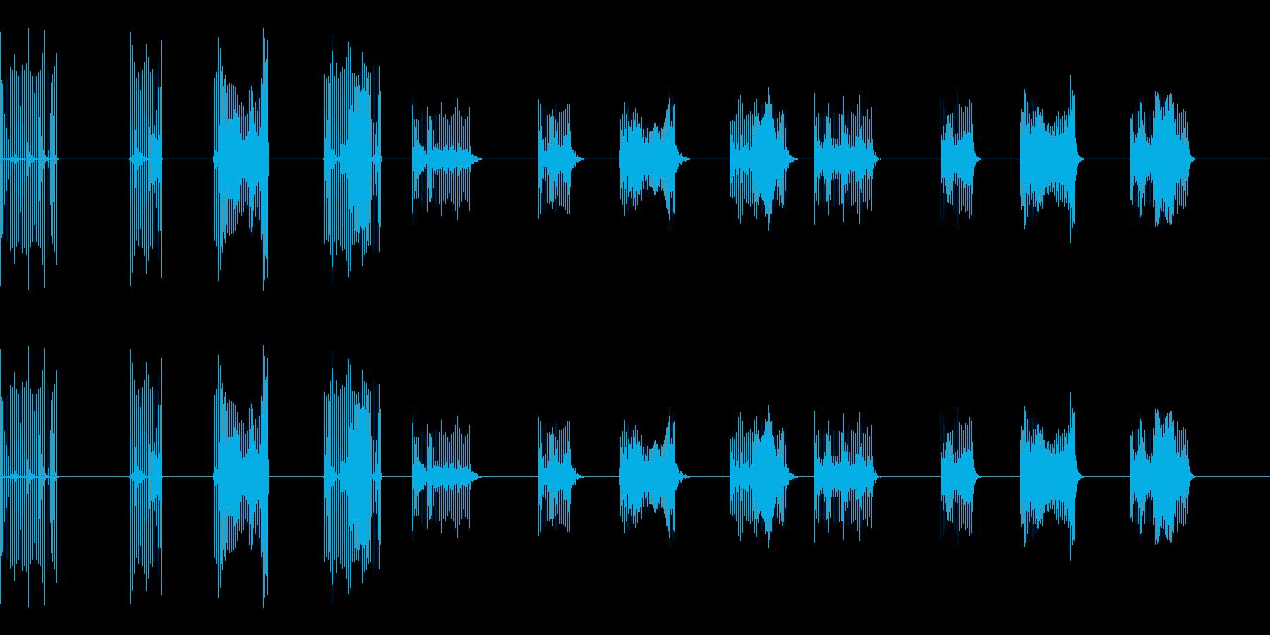 サンプル&ホールド-4バージョンX...の再生済みの波形