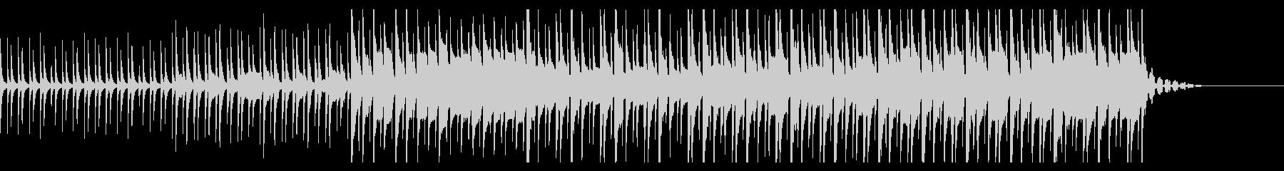 不気味なイメージのすこし変な曲の未再生の波形