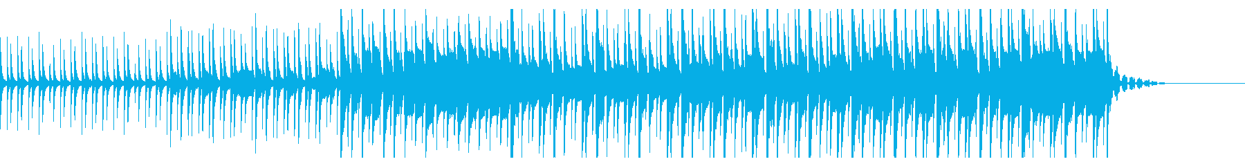 不気味なイメージのすこし変な曲の再生済みの波形