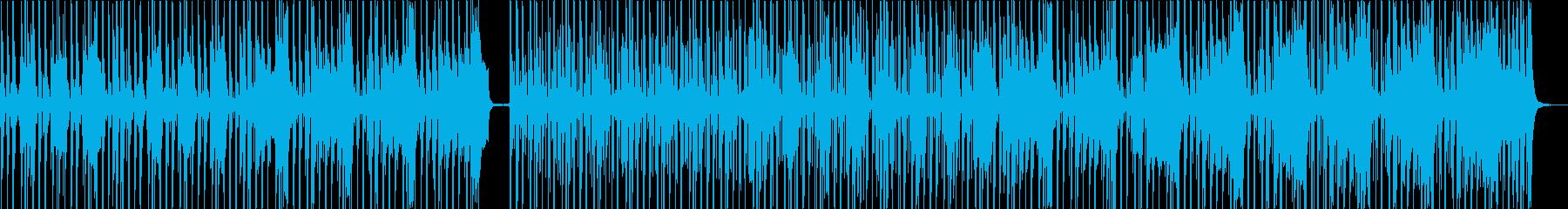 バリバリの典型的ファンクの再生済みの波形