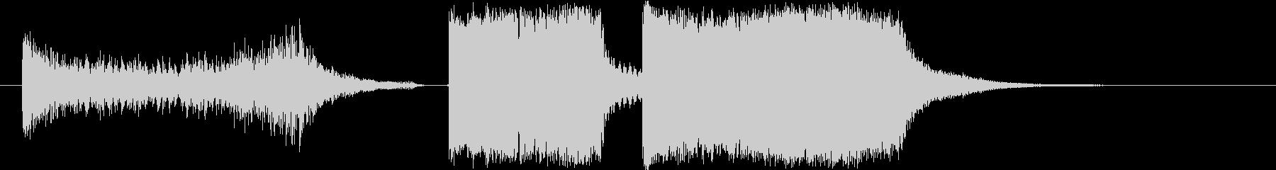 昔の歌番組で使われるランキングジングルの未再生の波形