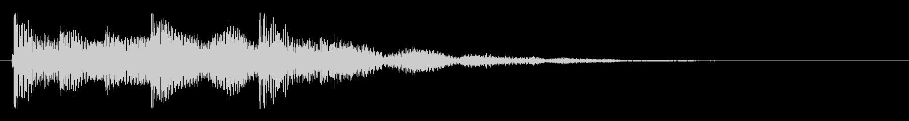 エスニック系の打楽器を使用したジングルの未再生の波形