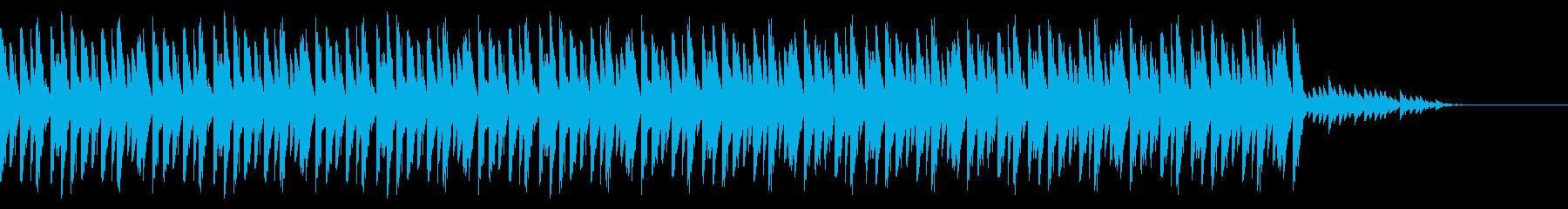 不思議な機械的リズムとピンポンの再生済みの波形