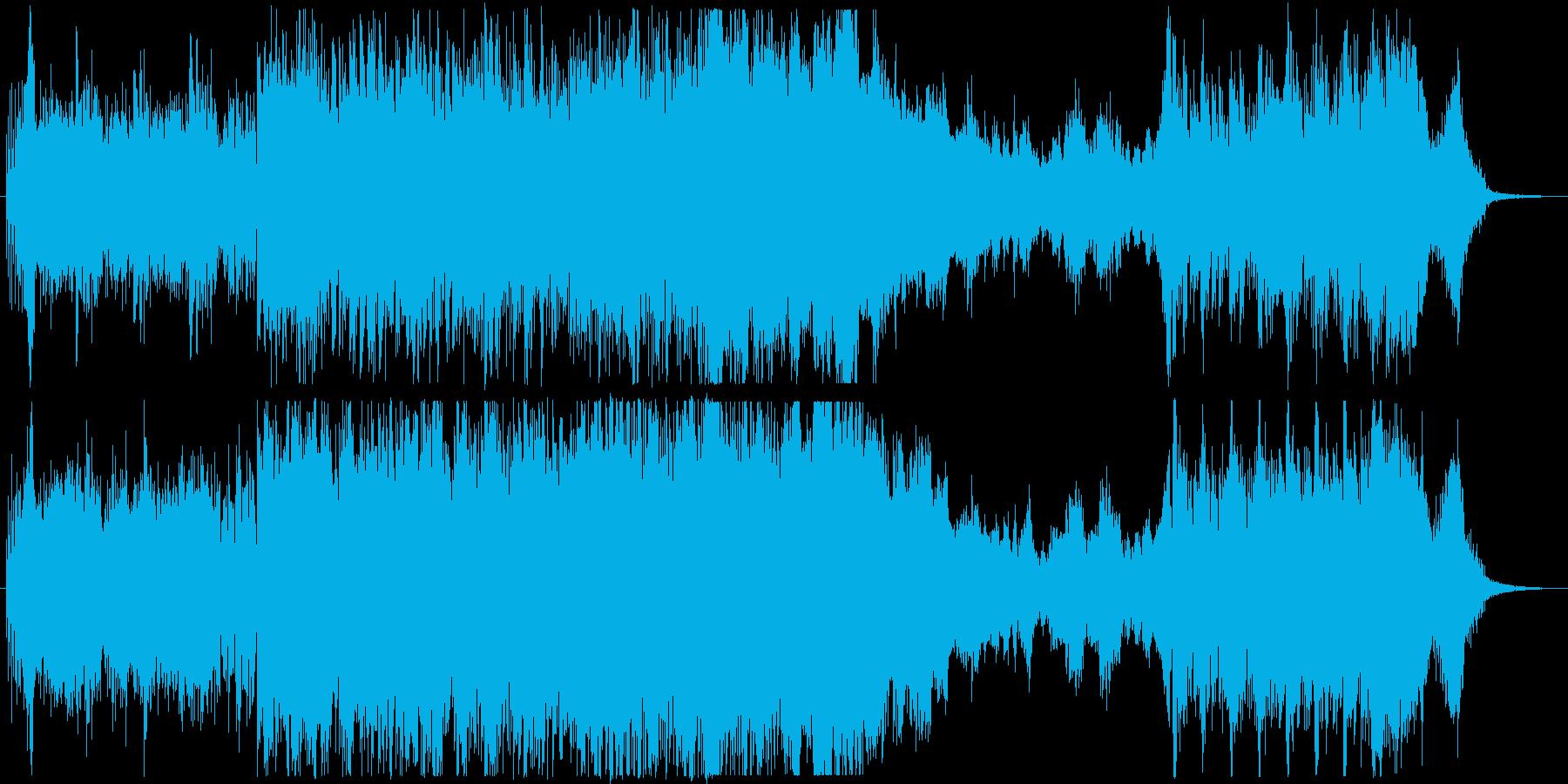 戦国 和風映画ゲーム CMトレーラーの再生済みの波形