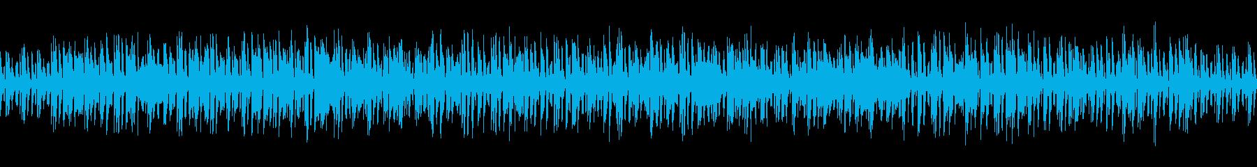 ベースとリズムのみのジャングル感ある曲の再生済みの波形