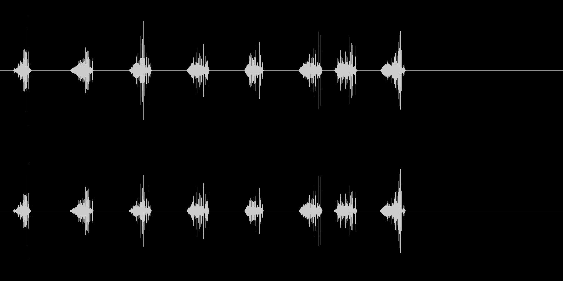 雪の足跡;カリカリ雪の足跡。の未再生の波形