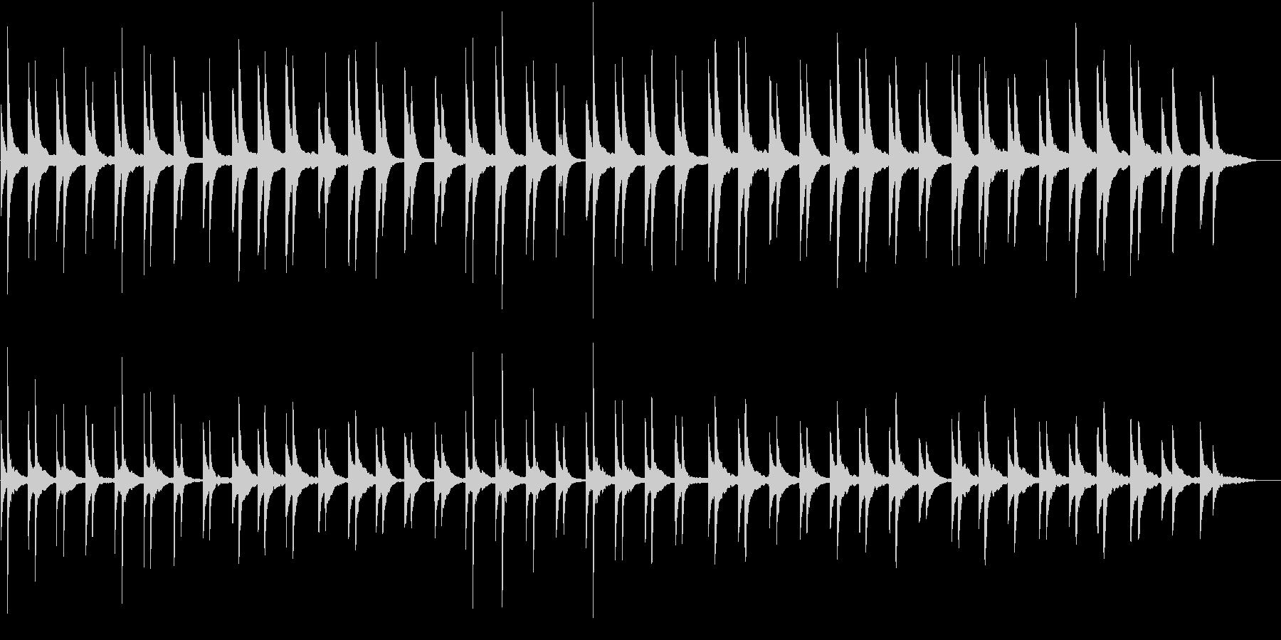 静かで穏やか寂しげなピアノソロ 映像CMの未再生の波形