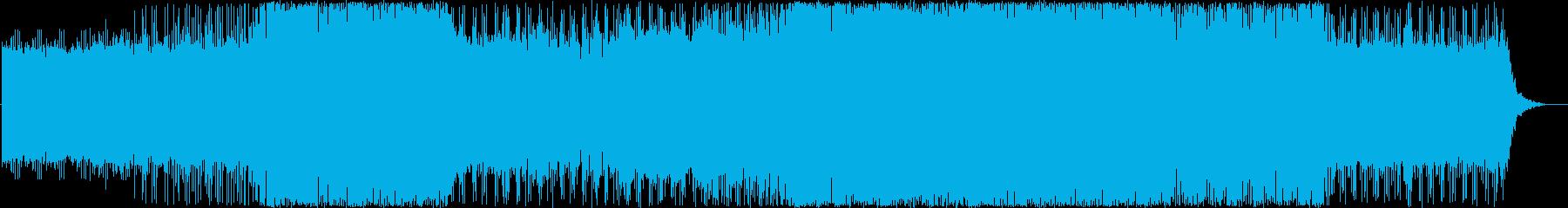 激しめクールシンセダンスハウスの再生済みの波形