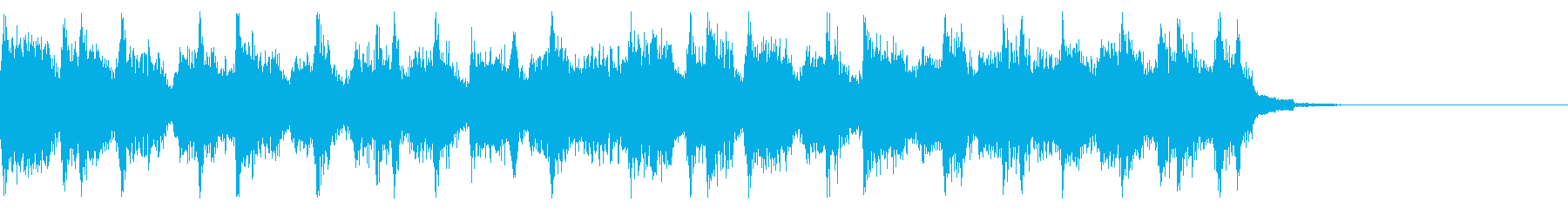 ロック風なアテンション音の再生済みの波形