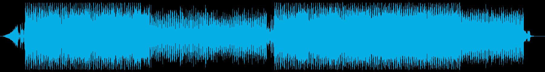 機械的で中毒性のあるゴスっぽいテクノの再生済みの波形