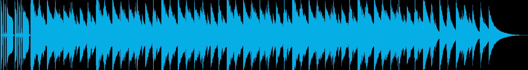 雨をイメージしたアンニュイなBGMの再生済みの波形