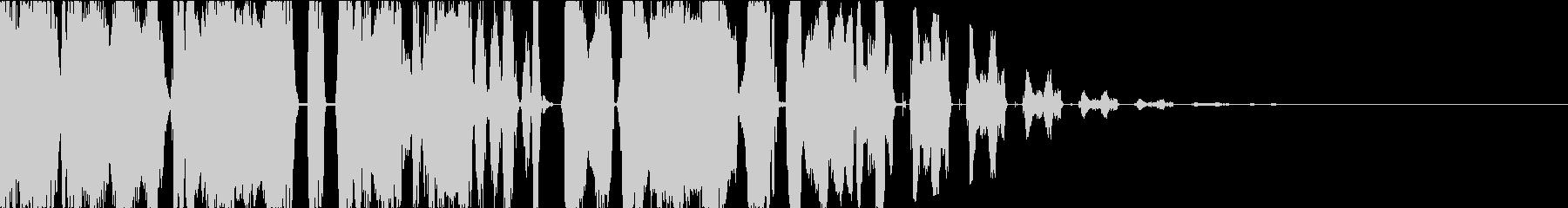 DJスクラッチボーカルチョップジングルcの未再生の波形
