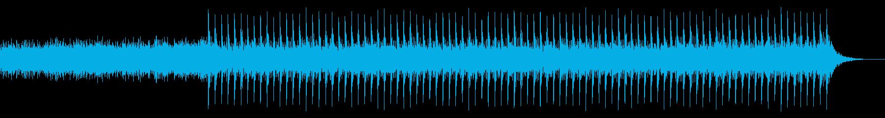 ドキドキ映像・近未来的オープニングEDMの再生済みの波形