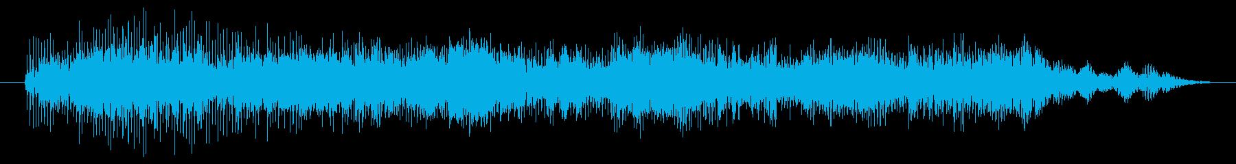 打撃 エイリアンシンセ03の再生済みの波形