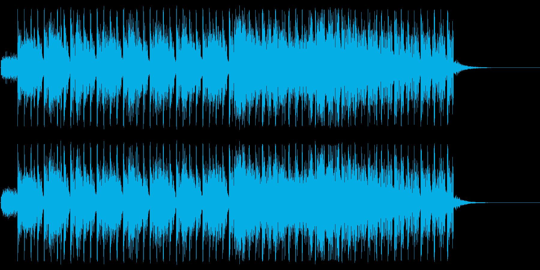 入場シーンや選択画面に使えるEDMの再生済みの波形