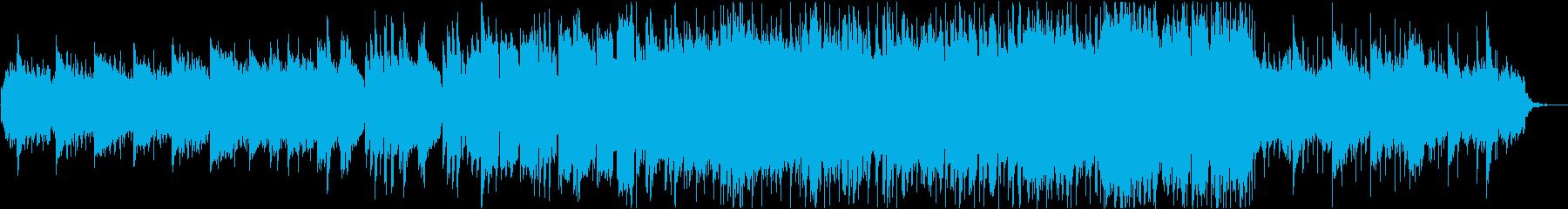 リゾートの映像等に最適なBGMの再生済みの波形