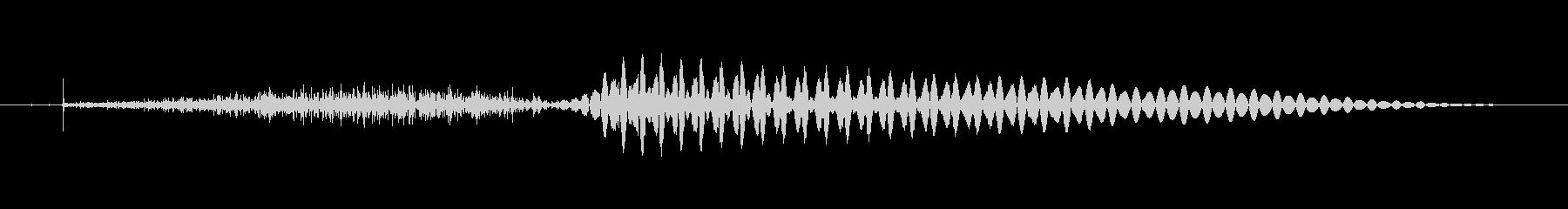 (女性)ドイツ語 数字10(十)ツェーンの未再生の波形