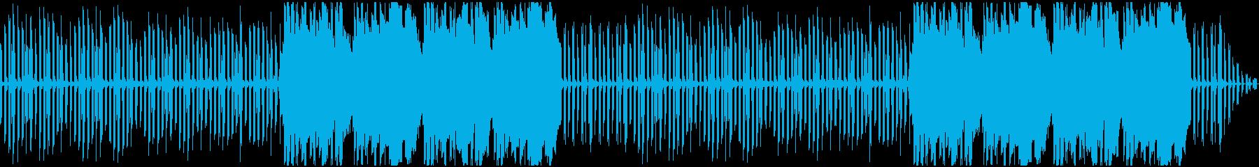 ほのぼの日常のシンプルなエレピ曲の再生済みの波形