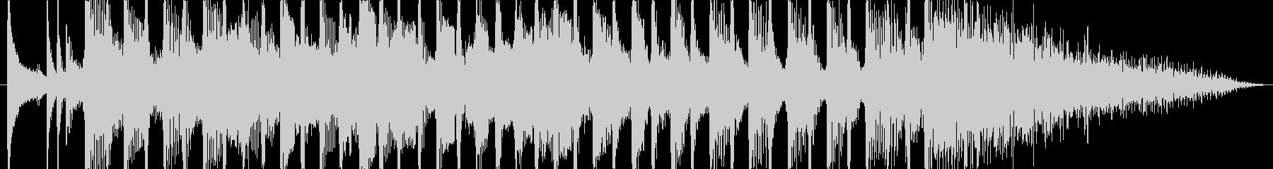 軽快なディスコ風の登場時のジングルの未再生の波形