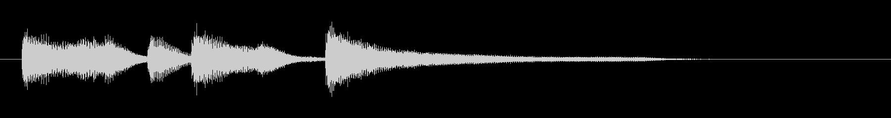 レベルアップやクリア時に流れそうなピアノの未再生の波形