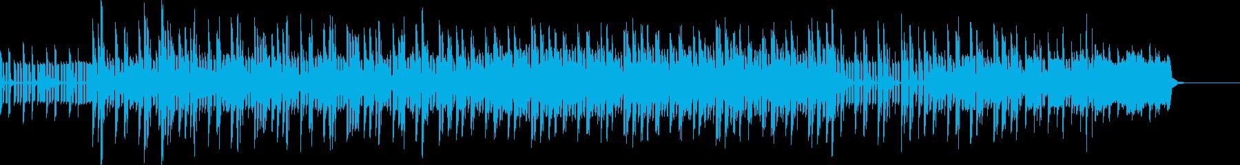 シンセサイザーによるミディアムテンポの曲の再生済みの波形