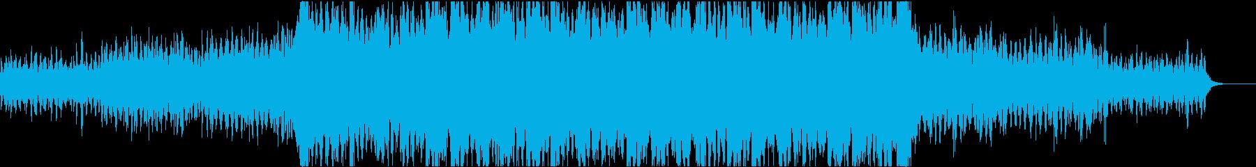 段々迫力が増していく映画音楽系ループの再生済みの波形