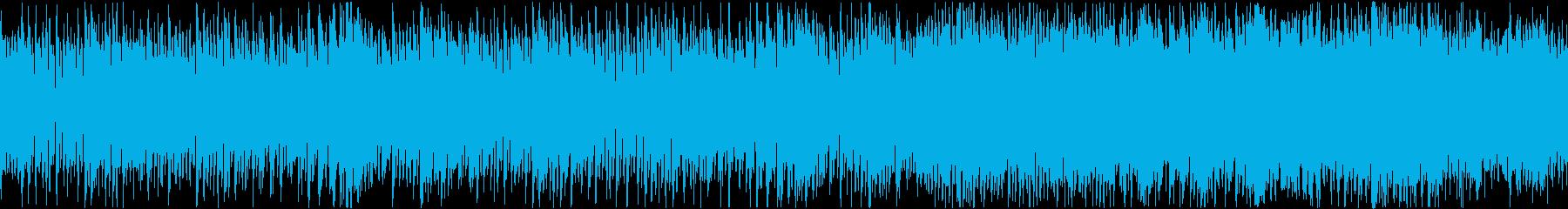 コミカル&ポップな戦闘曲・ループの再生済みの波形