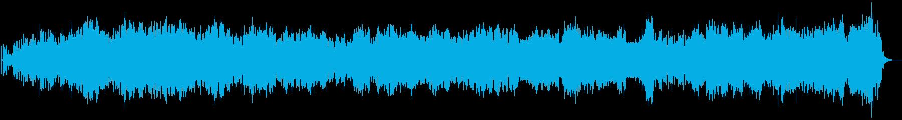 煌びやかな癒し系アンビエント楽曲01-1の再生済みの波形