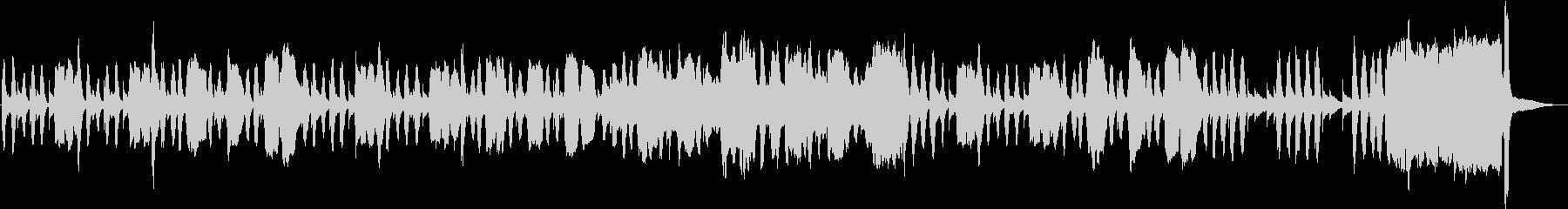 バスクラとテナーサックスの「考え中」の未再生の波形