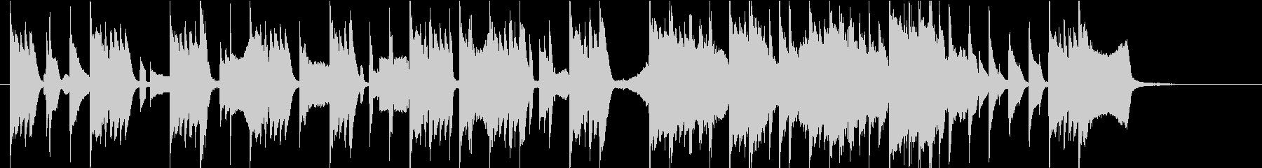 可愛いスタイリッシュなピアノ 30秒CMの未再生の波形