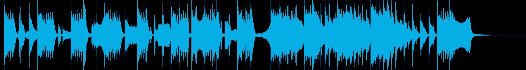 可愛いスタイリッシュなピアノ 30秒CMの再生済みの波形