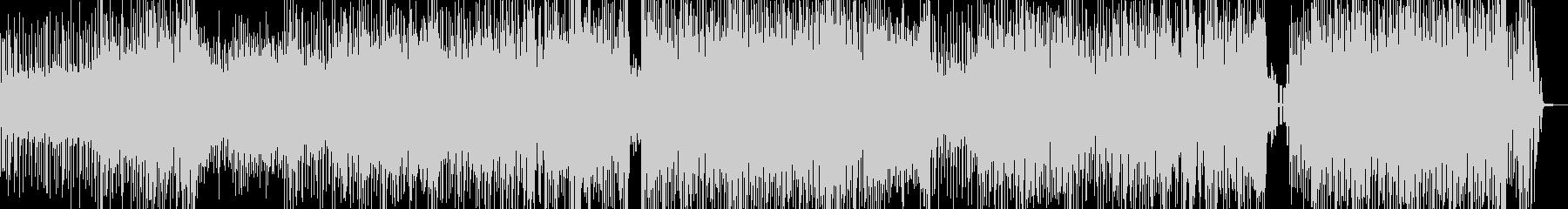 クセになるメロディの三味線テクノ+掛け声の未再生の波形