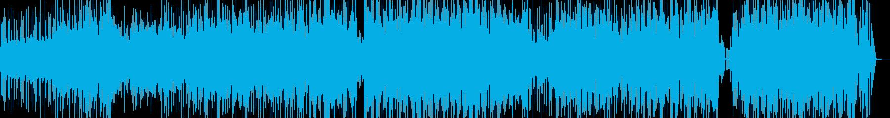 クセになるメロディの三味線テクノ+掛け声の再生済みの波形